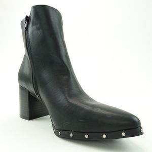 Express Womens Sz 10 Black Leather Boots R7S4
